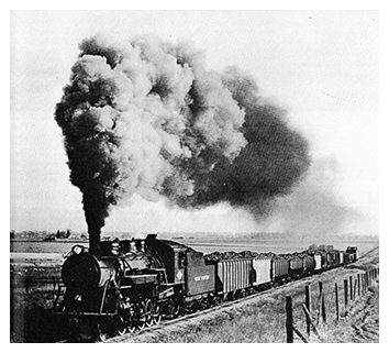 Photo of an old Great Western Railroad Locomotive