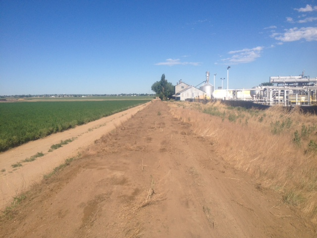 Rough grading west of CR 33